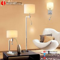 factory wholesale 201/304 stainless steel table lamp with led reading lights for hotel guest room