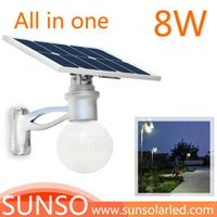 8W All in one solar powered LED yard, security, residential, Prairie light with motion sensor functi thumbnail image