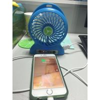 portable mini fan with charging fuction