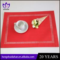 polyester plain hollow placemat
