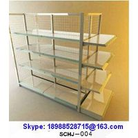 Goods Shelf 4-Layer Display Rack Iron Wire Mesh Back Factory Price Super Market/Shops/Store(SCHJ-004