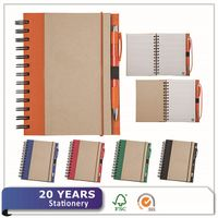 China Eco Friendly Custom Spiral Recycled Kraft Paper Notebook