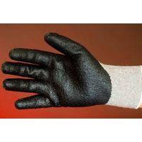 Gloves or 20-PL274D Grey polyester knitting gloves black Nitrile coated on palm thumbnail image