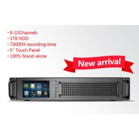 newest model 32lines 5inch rack mount stand-alone voice logger 70000hours recording time