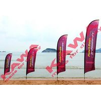 Outdoor advertising knife feather flag pole