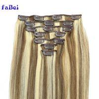 Top virgin peruvian hair peruvian human hair 100 clip in hair extension thumbnail image