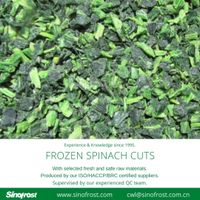 Frozen Spinach Cuts/IQF Whole Leaf Spinach Cuts