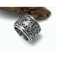 Stainless Steel Four Mythical Creatures Spinner  biker rings wholesale