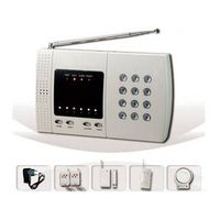 Telephone line alarm system with rechargeable backup battery thumbnail image