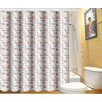 Cheap and waterproof polyester bathroom curtain printed