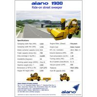 Alano 1900: Ride On Street Sweeper