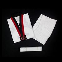 white taekwondo uniform for showing ,fashion white ribbed taekwondo uniform