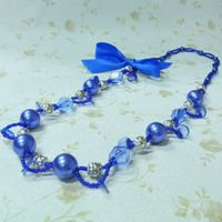 factory direct sell blue pearl necklace costume jewelry thumbnail image