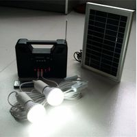 Free Solar powered integrated LED home lighting system