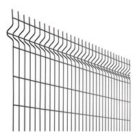 Building material triangular bending fence mesh / Curved Galvanized Steel Fencing for Residential De