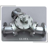 CS A216 WCB Flanged Muti-port Three way L port or T port Ball Valve