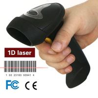 LS007 black handheld USB barcode scanner with 2.4G adapter,USB cable thumbnail image