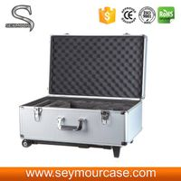Silver Waterproof Heavy Duty DJI Phantom Quad-Copter Case With Trolley thumbnail image