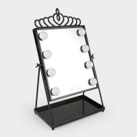 LED Makeup Mirror Two Light Color Mode USB Powered Rotatable Desktop Mirror