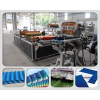 cheap building material -PVC plastic roofing tile/plastic tile making machine