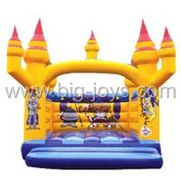 Inflatable commercial crown bouncer