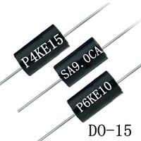 Free Samples P6KE7.5CA P6KE7.5A TVS Chip Diode 600W 7.5V Transient Voltage Suppressor DO-15