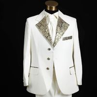 2017 designer white color wedding suits for men