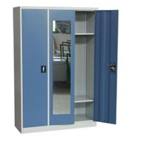 Adjustable shelves steel three doors dormitory locker