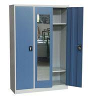 Adjustable shelves steel three doors dormitory locker