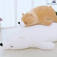 Polar bear plush toy polar bear pillow bear dolls DS-BR001 thumbnail image