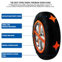 fabric tire strong grip snow chains