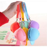 Promotion Gift Mini Silicone Purse Hat Cap Shaped Key Coin Bag Moneybag