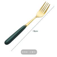 Color handle korean 304 stainless steel chopsticks and spoon fork with box cutlery set thumbnail image