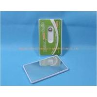 convenient to carry credit card dental floss with mirror