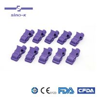 Sino-K Multi-function ECG/EKG Banana to Tab Adapters - 989803166031 Purple Package of 10