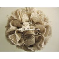 vintage linen flower ball for wedding