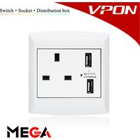 13A BS socket with 2 USB