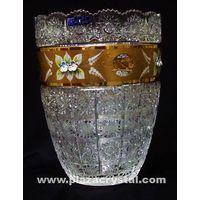 355 Bohemia Crystal Gold Pk Vase thumbnail image