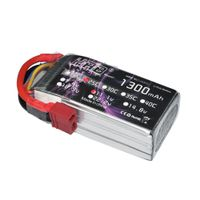 HRB 1300mAh 25C 3S 11.1V LiPo Battery Pack with T Plug for RC Car Boat Truck Heli Airplane