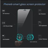 Smart touch tempered glass screen protector with touch back and confirm buttons,For iPhone 6 Tempere