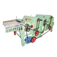 GM250 textile waste recycling machine with two rollers
