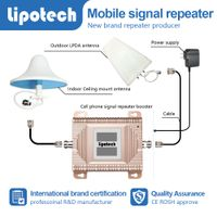 Lipotech lcd screen and beautiful color dual band mobile signal repeater