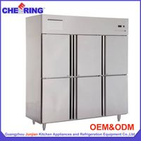 refrigeration equipment 6 door stainless steel commercial upright refrigerator thumbnail image