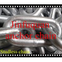 Studless chain for marine