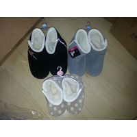 boots for lady coral fleece print