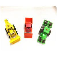 Plastic mobile machinery shop car model production