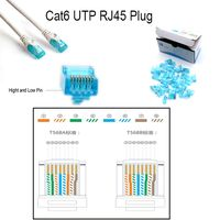 CAT6/Cat5e UTP RJ45 Modular Plug 100-Park RJ45 Unshielded 8p8c RJ45 Patch Cable Connector