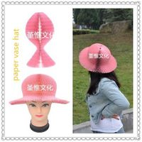 Pink Paper Hat , lovely and funny hat for children and women in home decoration
