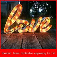 Art advertising customer DIY shopwindon punching bulb lighting up advertising indoor sign letters