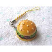 Resin Emulational Hamburgers Mobile Charm